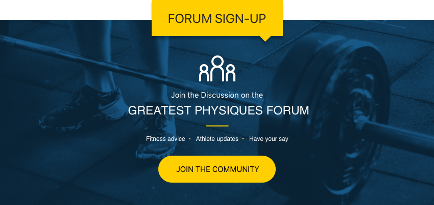 Greatest Physiques Forum Signup