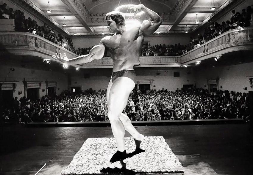 Arnold Schwarzenegger pose