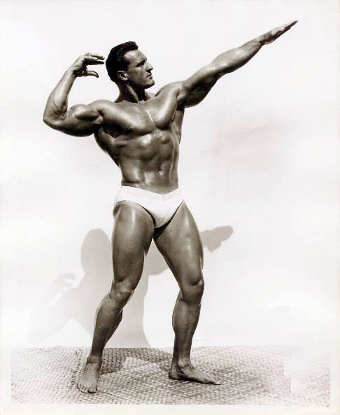 Clarence Ross posing in a classic style