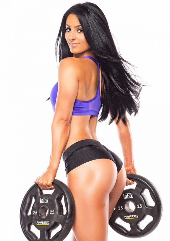 Amanda Bucci showing glutes and back