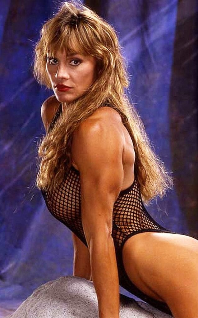 Corinna Everson posing during a photoshoot in her younger years.