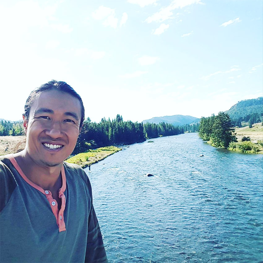 Mike Chang enjoying his travels after leaving his career in fitness behind.