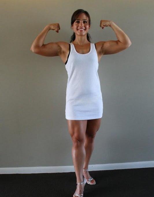 jennifer rish front double biceps pose