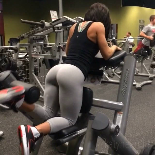 katy hearn completing calf raise in the gym