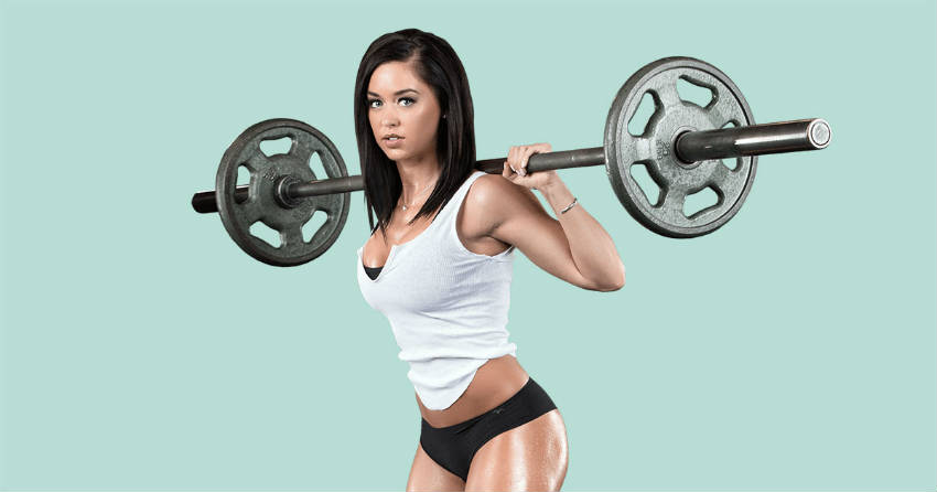 katy hearn with barbell