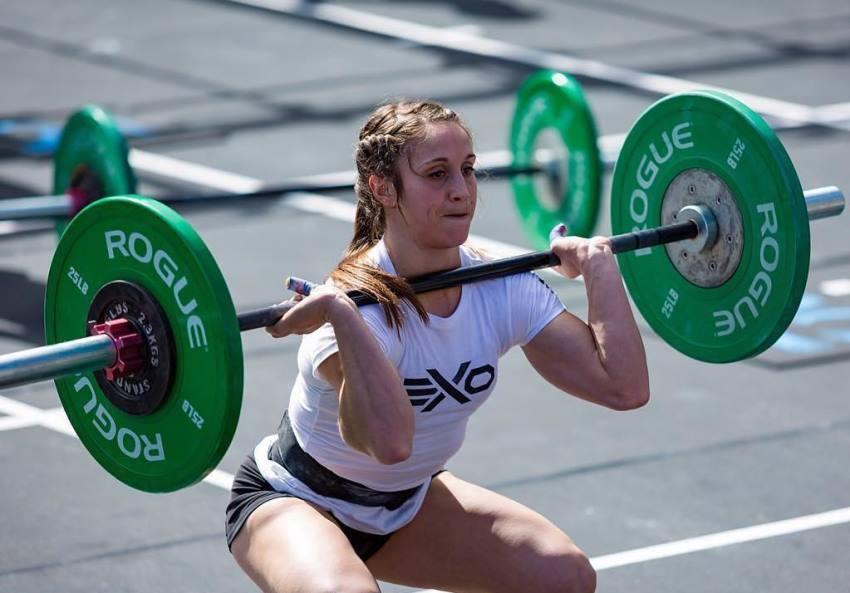 kristi eramo lifting weights
