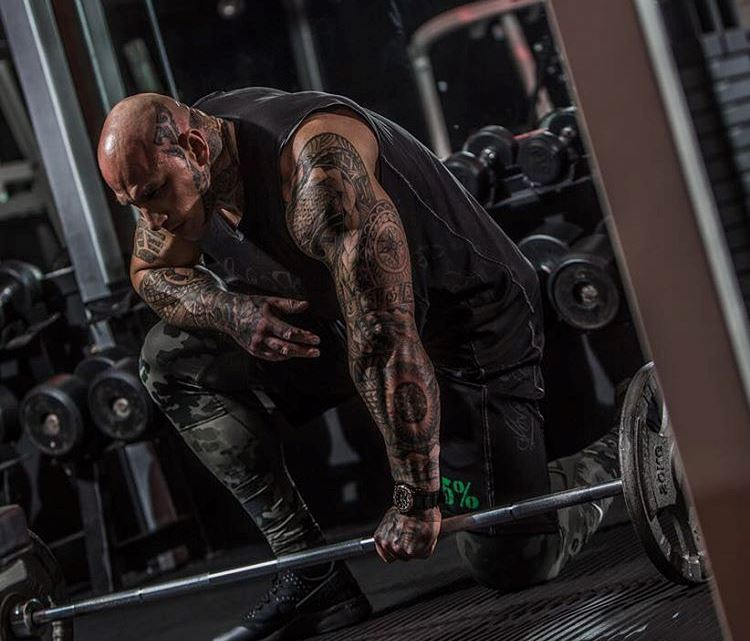 martyn ford with a weight bar