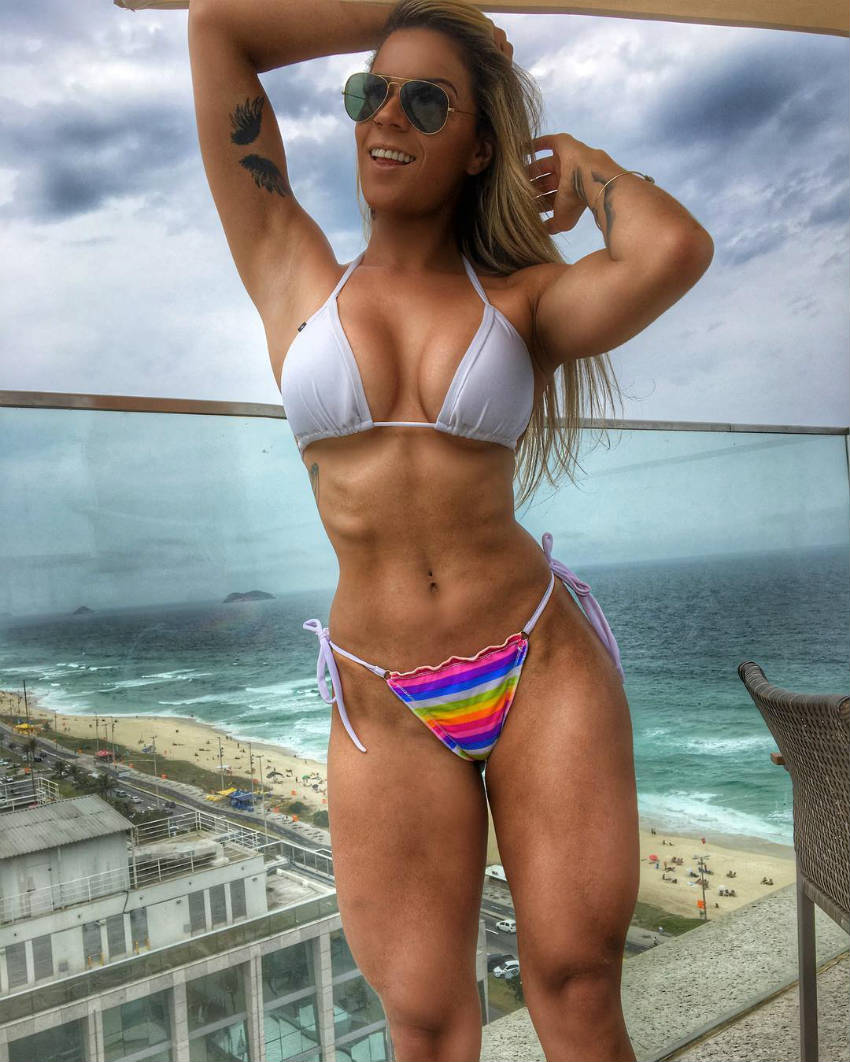tamy gianucci stands on balcony