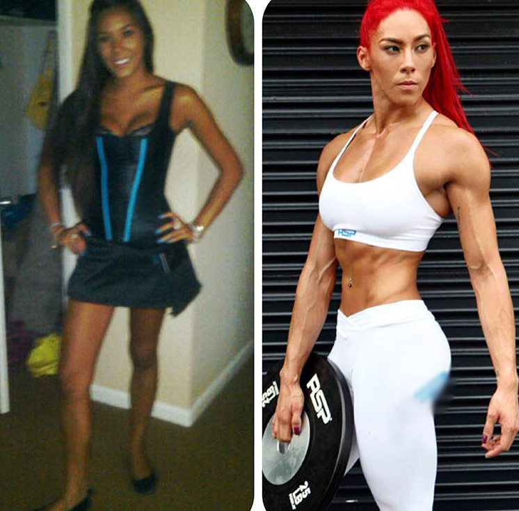 Hannah Eden's transformation from a girl with an average looking body to a stunning fit model
