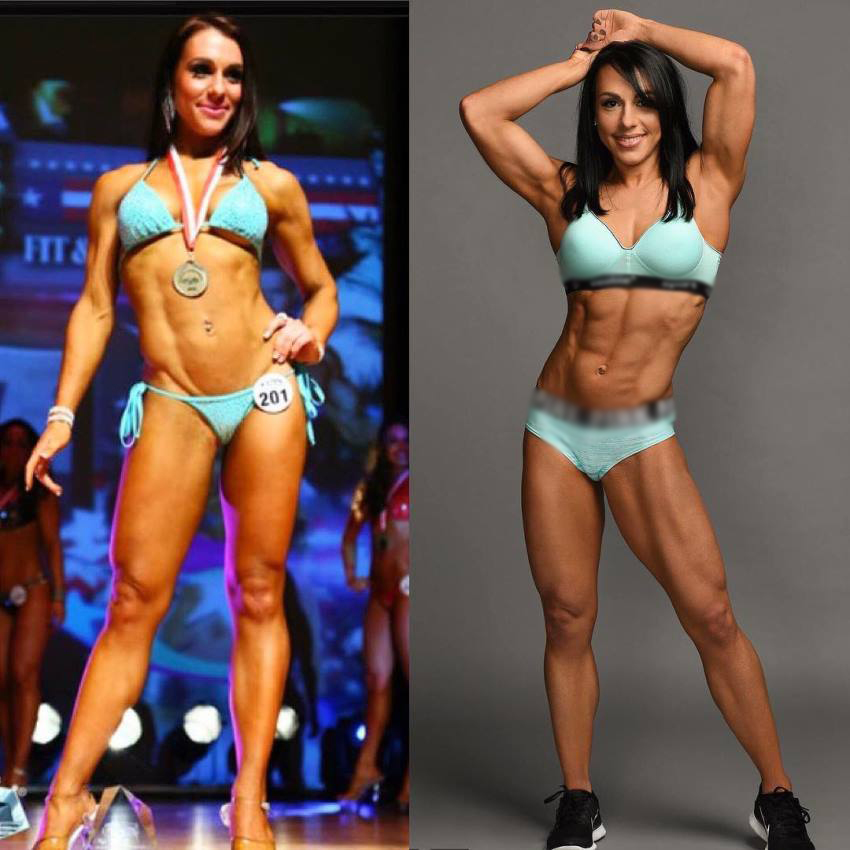 Alyssa Michelle Agostini transformation from a fit bikini body on the stage to even better physique