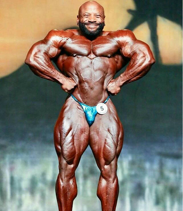 Charles Dixon posing at a competition