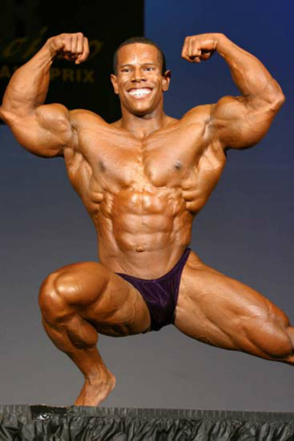 David Henry posing at a competition