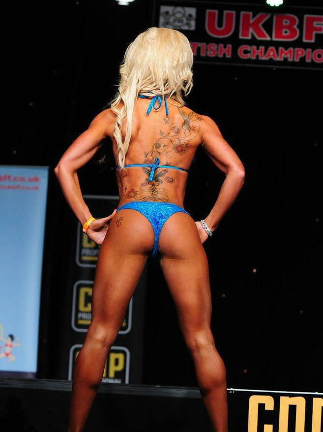 Georgia B Simmons showing her glutes at a competition