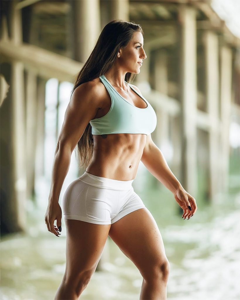 Jessica-Kiernan-posing-for-a-photoshoot-in-sportswear