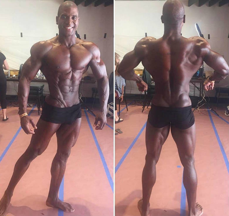 Xavisus Gayden showing his front and back profiles