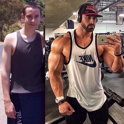 steroid before and after
