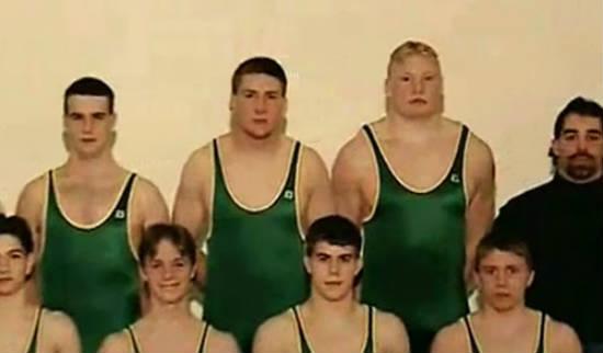 brock lesnar wrestling team in high school