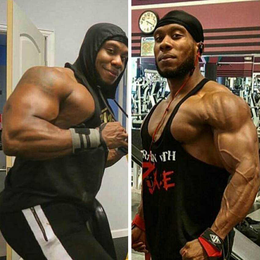 Picture of Chris Jones on bulk on the left, and cut on the right