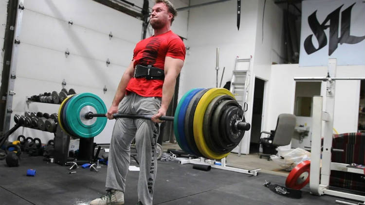 furious Pete completing a deadlift