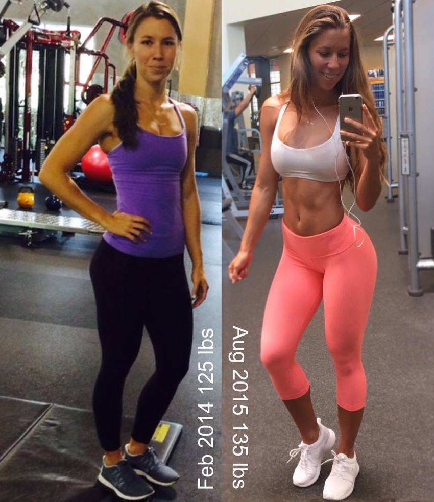 Jessie Delgado transformation from skinny to fit