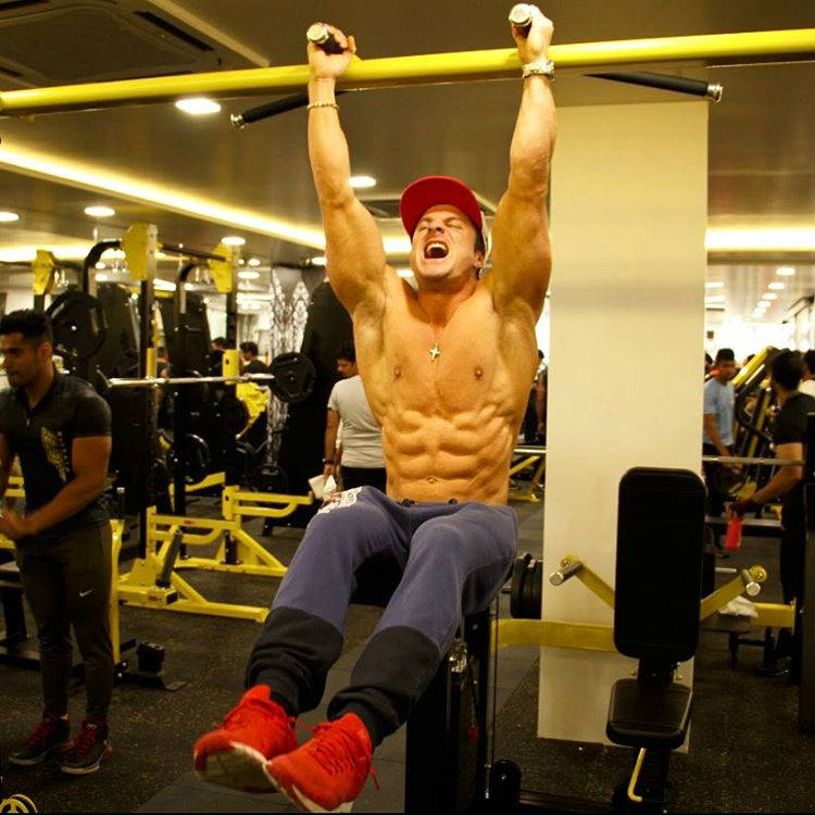 josef rakich completing hanging leg raise