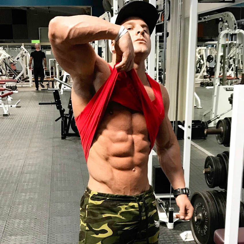 josef rakich showing his abs