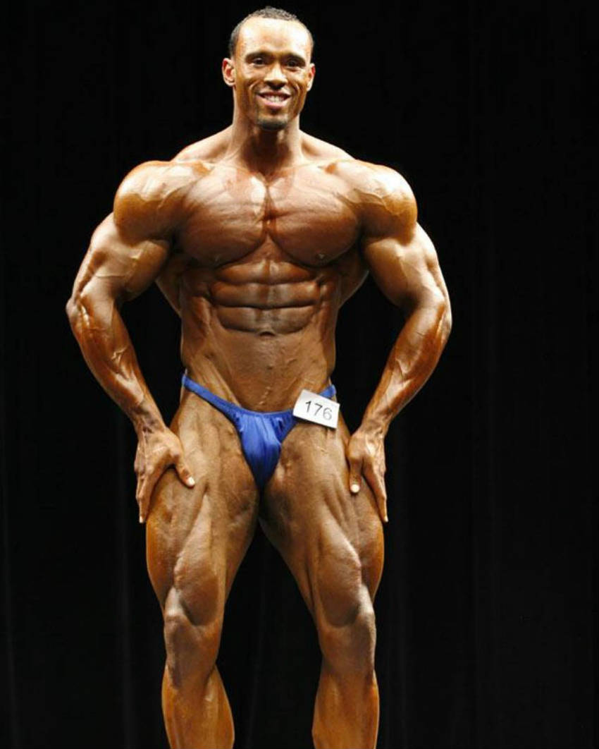 juan morel competing in blue underwear