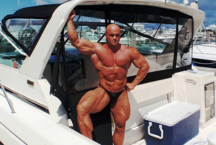 lukas osladil on a boat