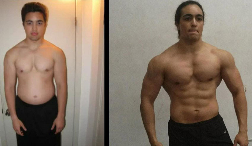 Omar Isuf three years body transformation from excess fat to shredded body