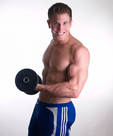 scott herman lifting a dumbbell
