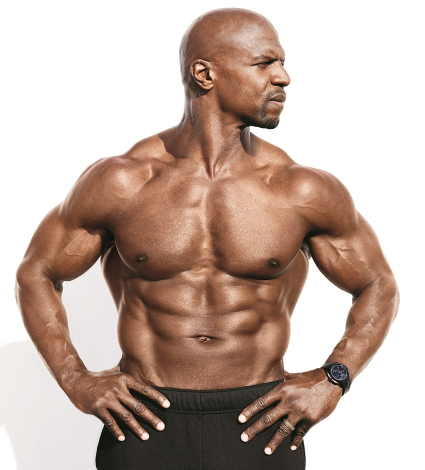 Terry Crews' profile picture, where he has his head turned to the right, looking seriously in the distance