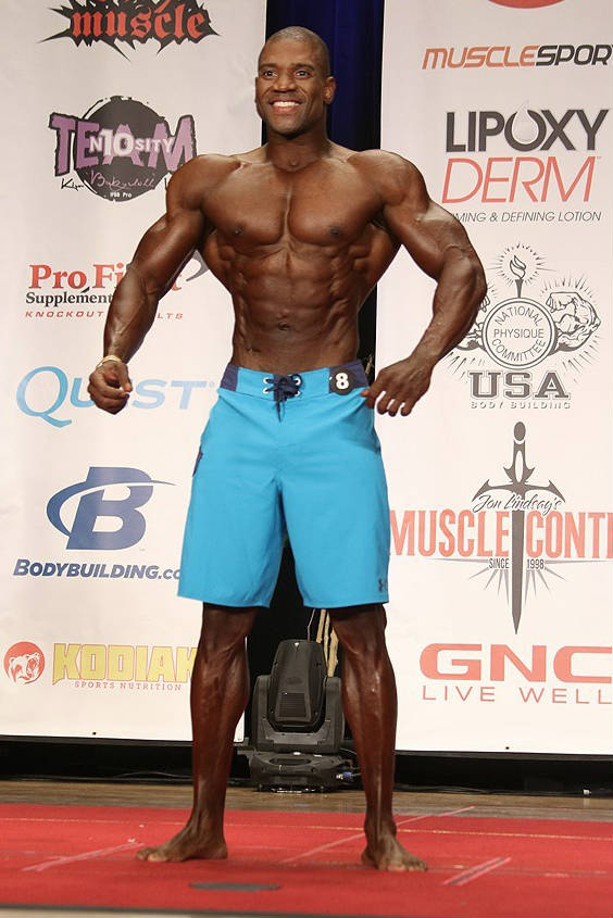 Xavisus Gayden standing at a competition