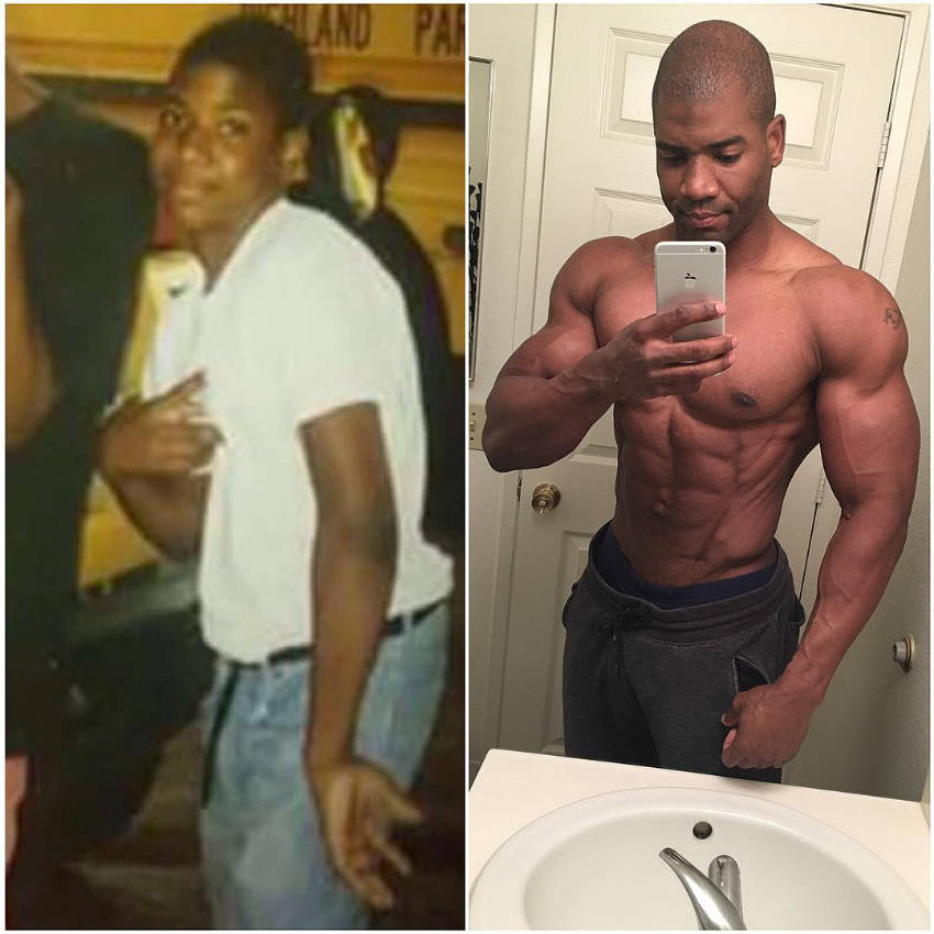 Xavisus Gayden's transformation picture