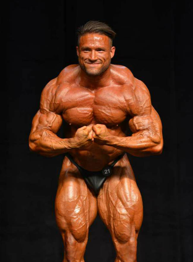 Zane Watson tensing at competition