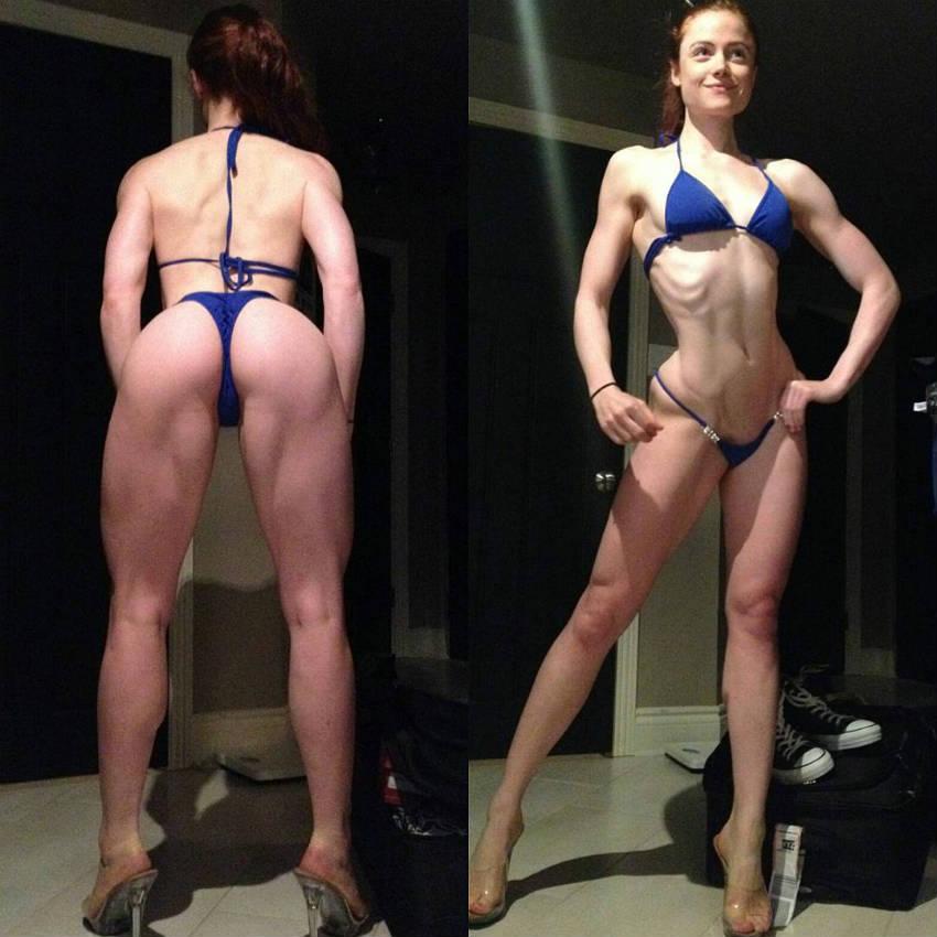 Female athlete showing a large clitoris - 21 part 2