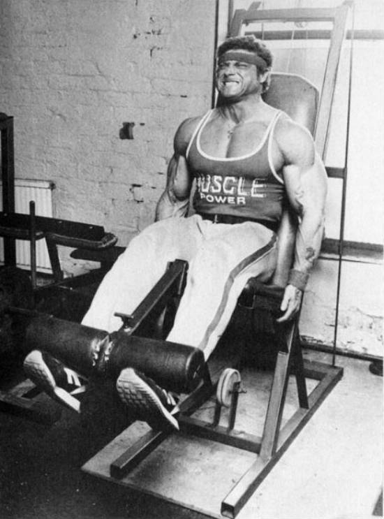 Frank Richards completing a lift on the calf raise machine