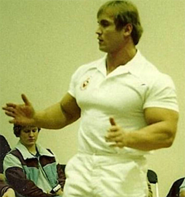 Lance Dreher carrying out a seminar about nutrition and exercise in the late 80's