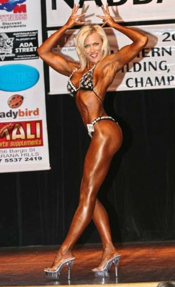 Lindy Olsen competing in one of her first competitions