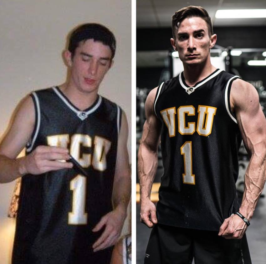 Maxx Chewning's transformation from skinny to muscular and fit