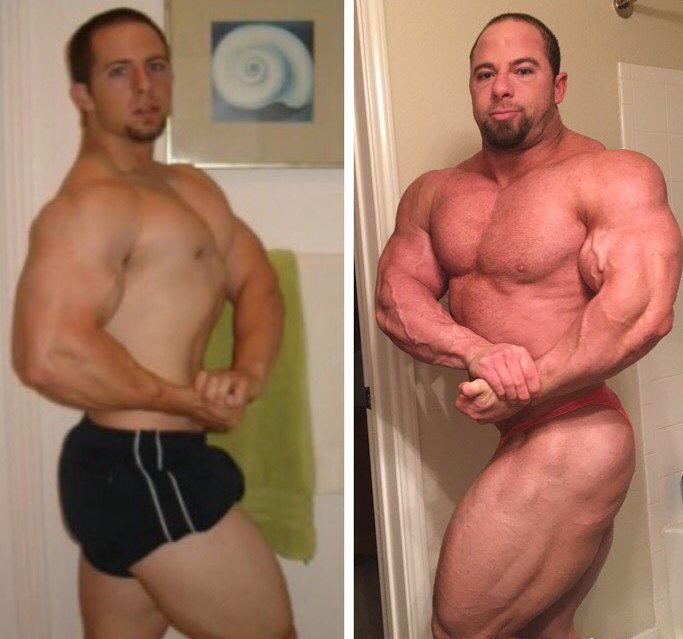 John Jewett's transformation from an already big and muscular individual, to a massive and lean bodybuilder