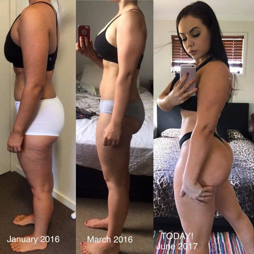 Lauryn Clare's transformation from out of shape to fit and curvy
