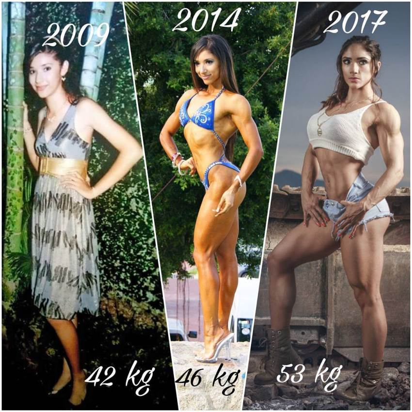 Sandra Grajales' transformation from skinny 42kg to fit and muscular 53kg