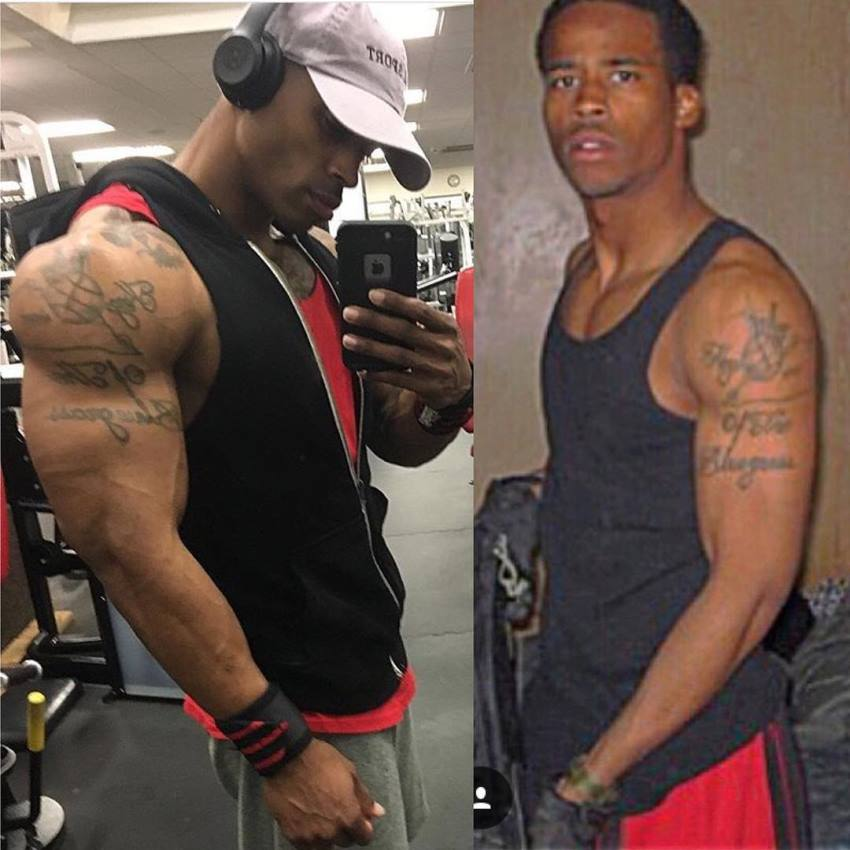 Andre Smith's transformation from an average looking individual to a fit and ripped model
