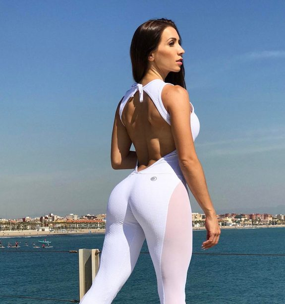 Neiva Mara wearing white gym clothes looking lean and healthy