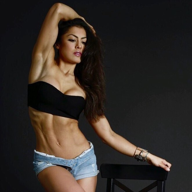 Cristina SIlva posing for a photo, looking lean and aesthetic