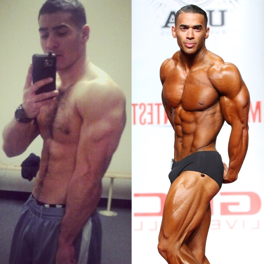 Jamie LeRoyce's transformation from already lean and fit to even more muscular and ripped on the stage