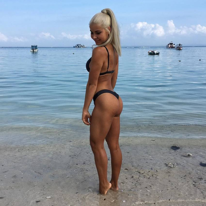 Jaz Correll standing on the shore, looking awesome