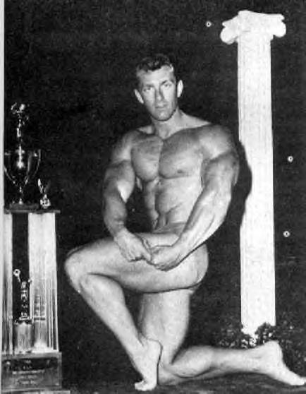 Bob Gajda flexing for a photo