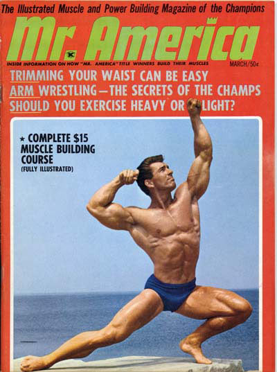 Bob Gajda on the cover of Mr. America magazine