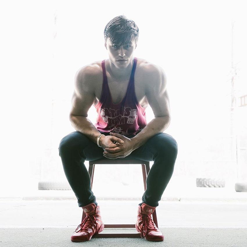 David Laid sat down in a photo shoot.